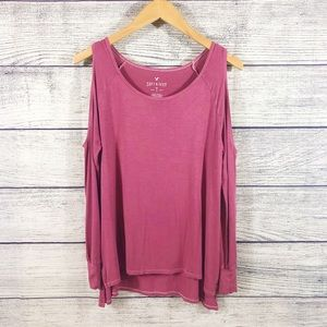 American Eagle cold shoulder soft and sexy top